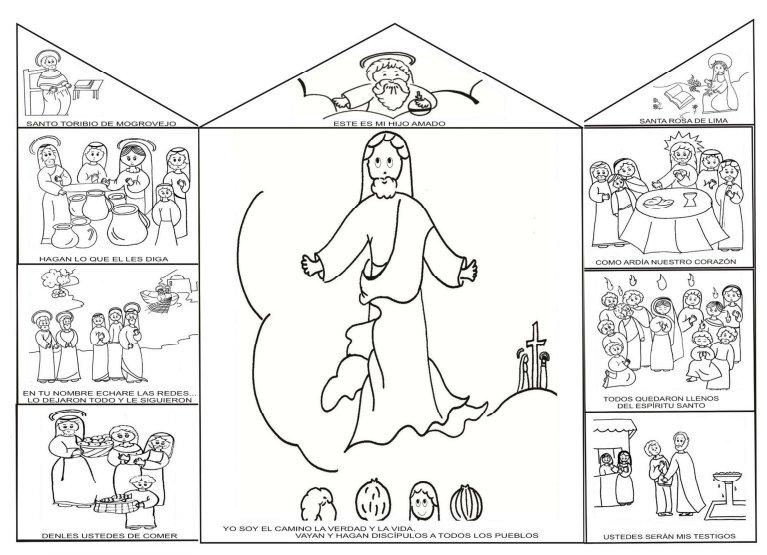 Las Misiones Y Los Niños Dibujos Para Colorear De Niños: Catequesis Para Niños Dibujos Para Colorear