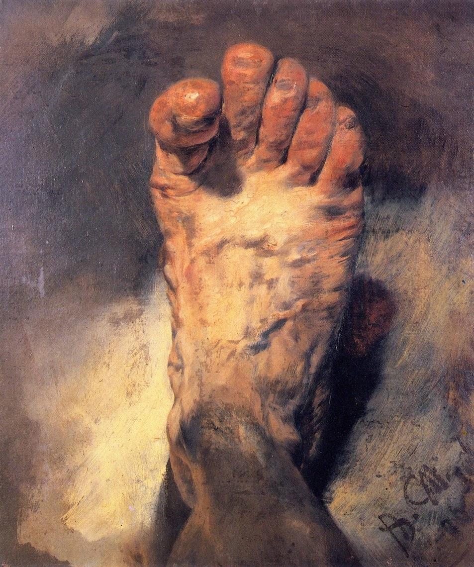 Adolph von menzel impressionist realist history for Hand painting art