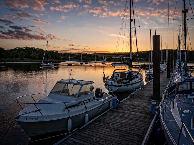 Photo of sunset at Kirkcudbright Marina