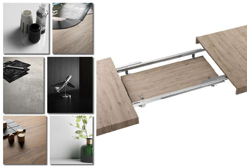 finiture colore tavolo moderno allungabile Iacopo