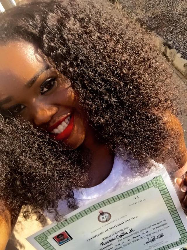CEE C during her NYSC programme