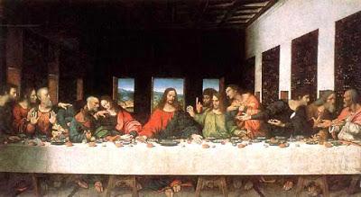 Pintura de La Última Cena de Jesús por Leonardo da Vinci