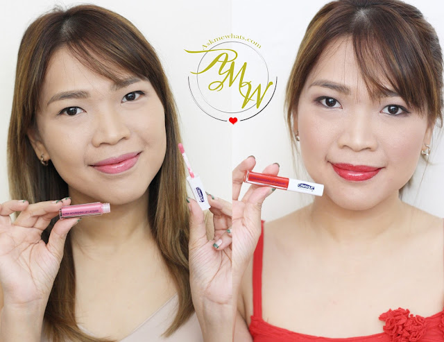 a photo of Nikki Tiu wearing Celeteque Ultra-Nourishing Lip Lacquers Review in shade Soft Pink and Velvet Red