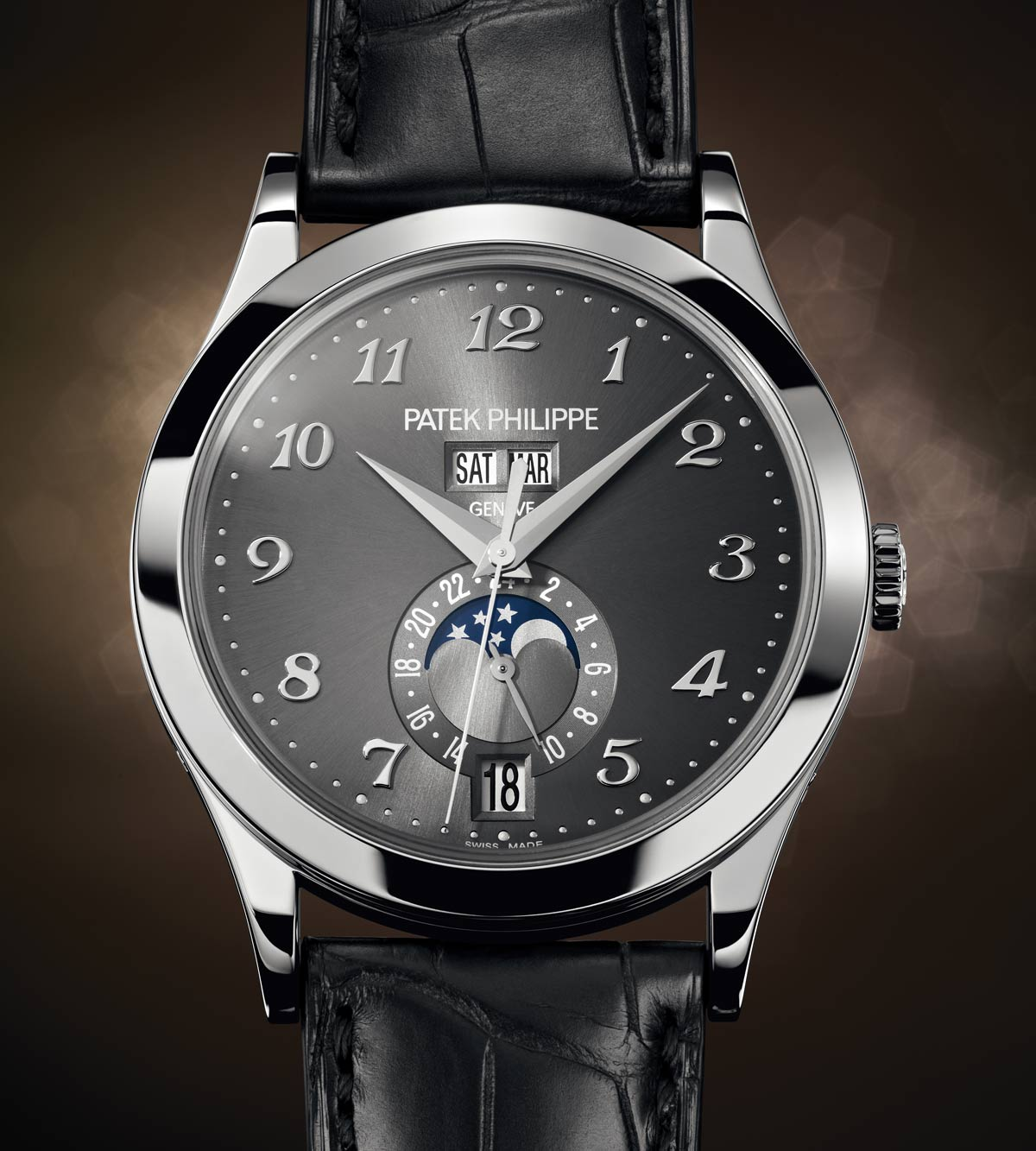 35bf97614e4 The layout is somehow reminiscent of Patek Philippe perpetual calendars  from the 1940s and 1950s with a big difference  on the face of the new  reference ...