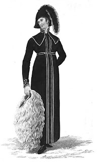Hyde-Park walking dress    from La Belle Assemblée (Feb 1810)
