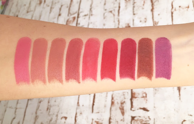 Rimmel Only 1 Matte Lipstick swatches
