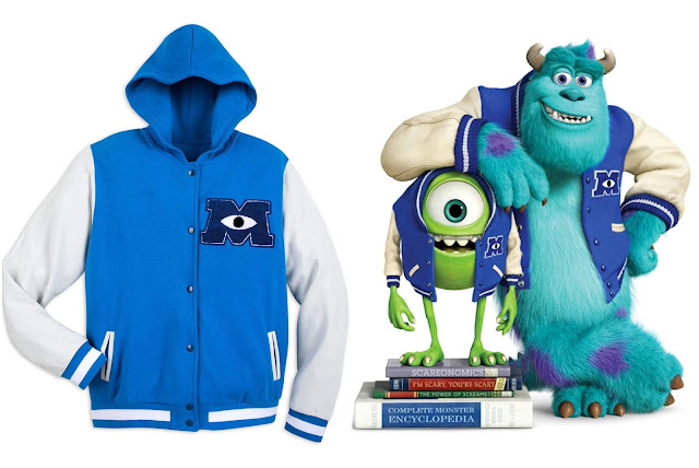 Monsters University Letterman fleece jacket from Disney