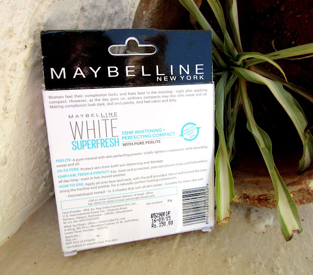 Maybelline WHITE SUPERFRESH Compact 'Shell' Review
