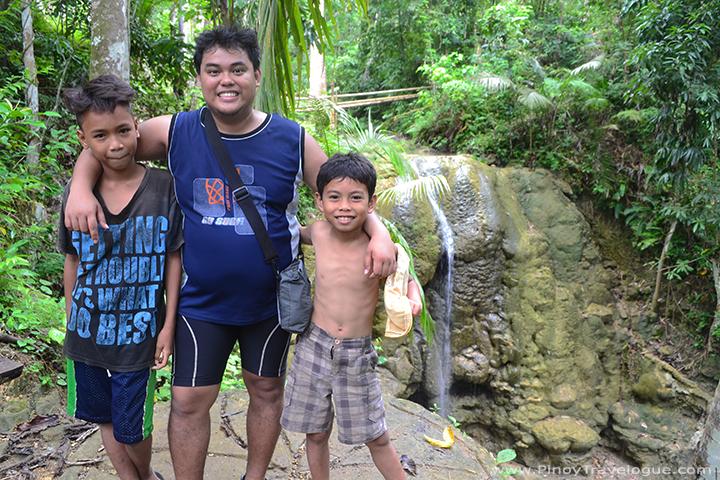 Kiddie guides at Lugnason Falls