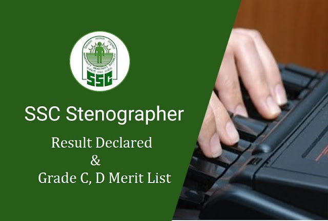 SSC Stenographer Results 2015 – 2016 Grade C And Grade D