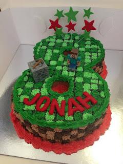 Modelo de bolo para 8 anos