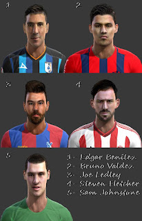 Faces: Bruno Valdez, Edgar Benitez, Joe Ledley Projeto, S.Johnstone, Steven Fletcher, pes 2013