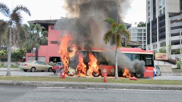 #SPAD Ambil Serius Dan Siasat Insiden Bas RapidKL Terbakar!