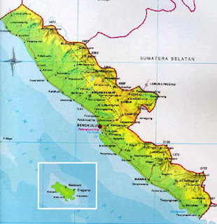 Peta Propinsi Bengkulu