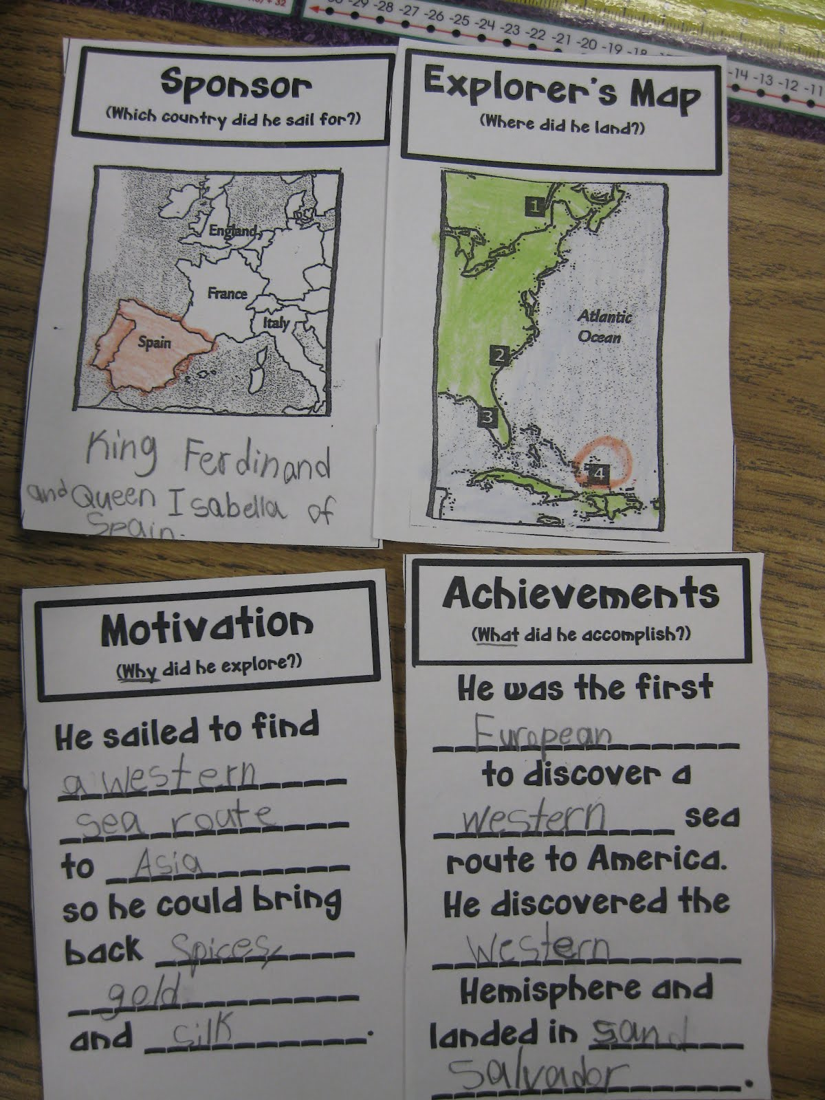 Social Stu S Explorers Worksheet