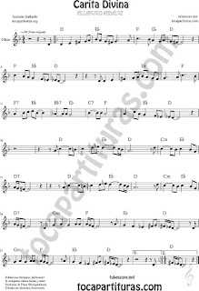 Carita Divina Flauta Travesera, flauta dulce y flauta de pico Partitura Sheet Music for Flute and Recorder Music Scores
