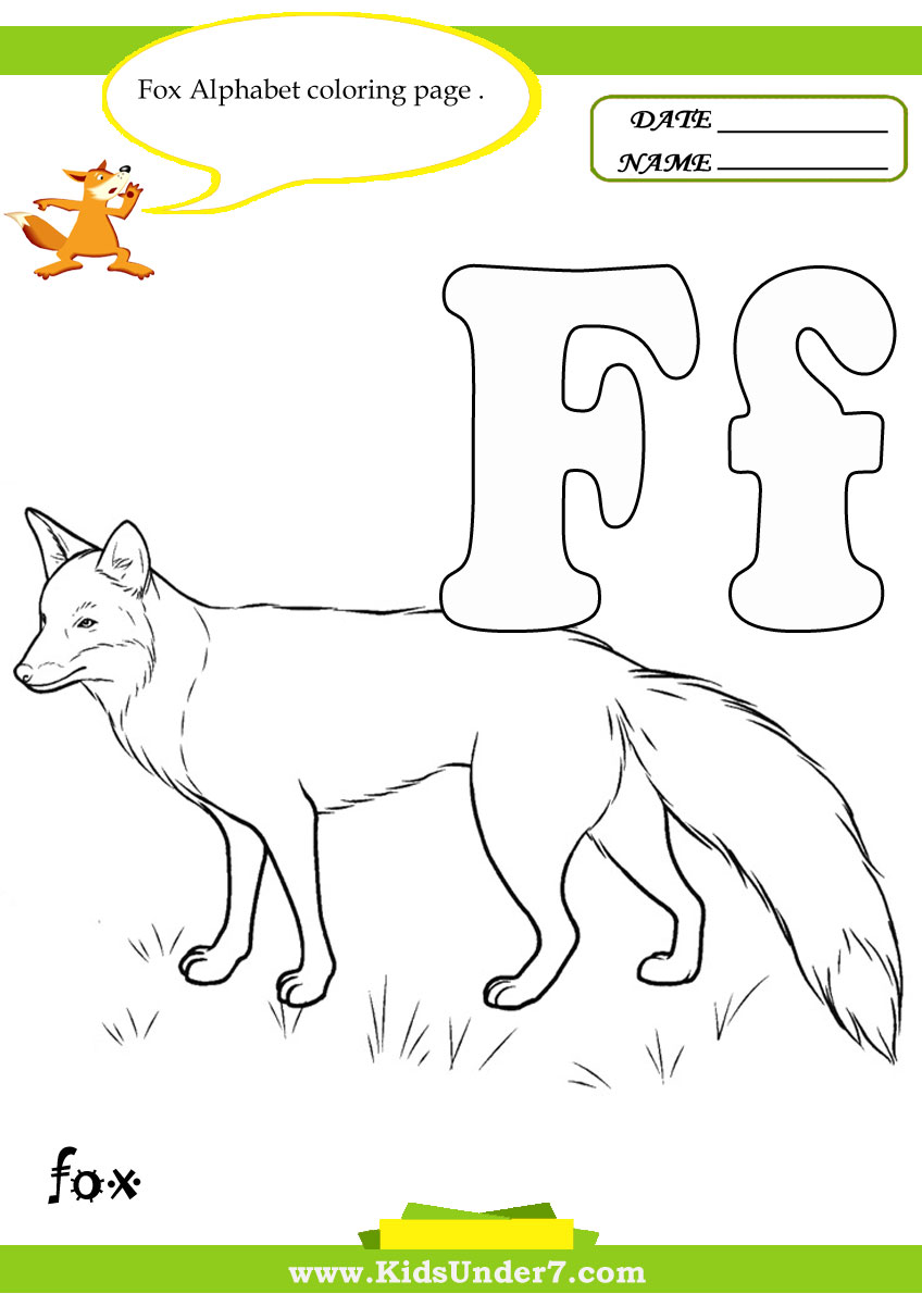 g fox co coloring pages - photo #27
