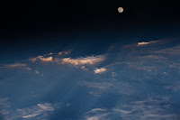Moon seen from the International Space Station
