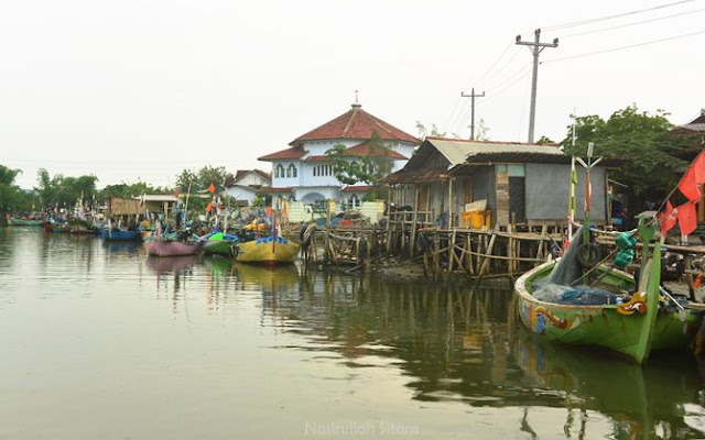 Perkampungan di dekat sungai Dasun
