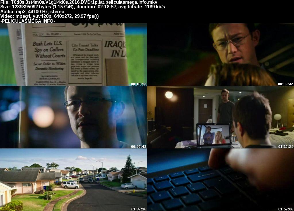 Descargar Snowden Latino por MEGA.