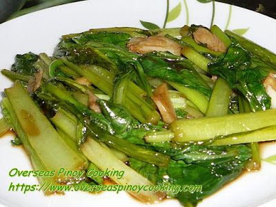 Adobong Choy Sum Recipe