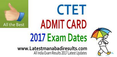 CTET Admit Card 2017, CTET Admit Card Download