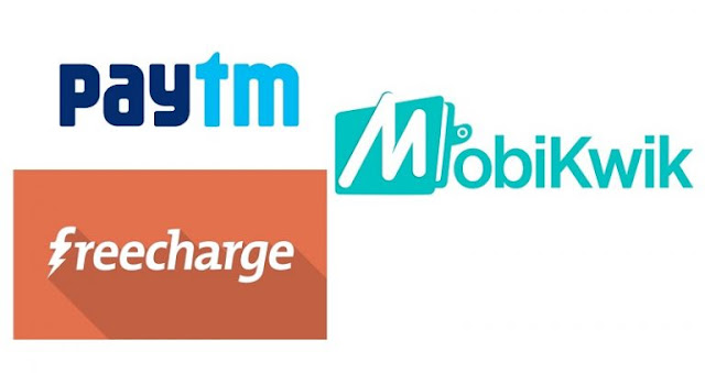 RBI Increases Balance limit on Digital Wallets Like Paytm,Mobikwik, Freecharge to Rs.20,000 per Month
