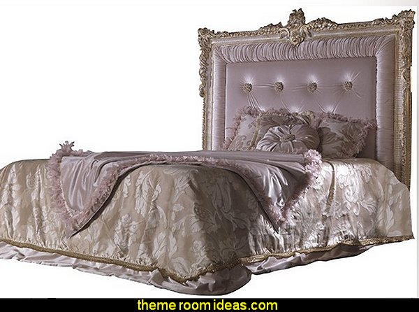 Camas, bed mod. Bellini Princess bedroom Furniture Luxury bedroom designs - Marie Antoinette Style theme decorating ideas - French provincial furniture baroque style - Louis XVI furniture - Rococo furniture - baroque furniture - marie antoinette bedroom ideas - marie antoinette bedroom furniture