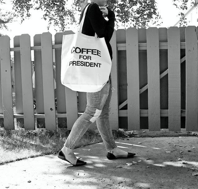 coffee for president tote