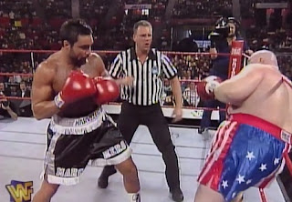WWE / WWF - In Your House 19: D-Generation-X - Butterbean faced Marc Mero in a 4-Round Tough Man fight