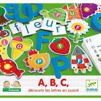 4 Jeux pour l'apprentissage des lettres: A, B, C,
