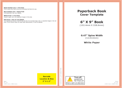 How to design ebook print book covers with adobe photoshop below is the screenshot of a sample of a cover template for a 6 x 9 print book black and white with 210 pages pronofoot35fo Images