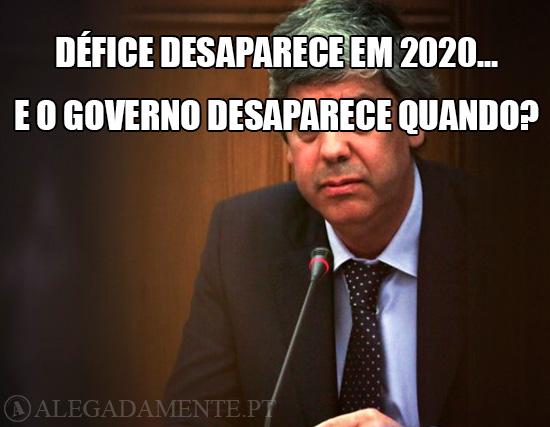 Imagem de Mário Centeno – Défice desaparece em 2020… E o Governo desaparece quando?