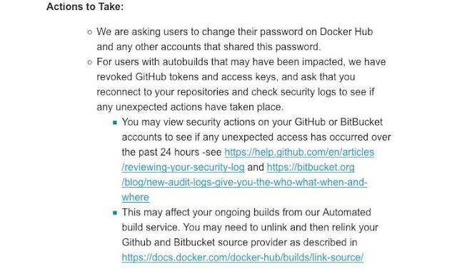 Docker Hub sofre uma violação de dados, pede aos usuários para redefinir a senha