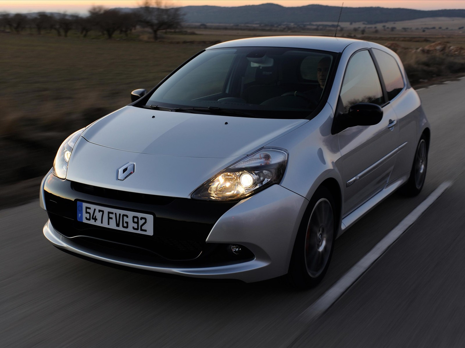 Black Home Wallpaper Car Pictures Renault Clio Sport 2010