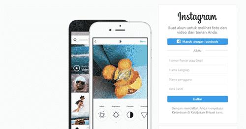 Buat Akun Instagram Lewat Google - Daftar Instagram Web di