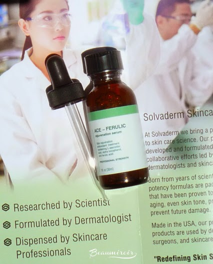 Solvaderm ACE-Ferulic Serum anti-aging skincare dermatologist professional formula with vitamin C E and Ferulic acid