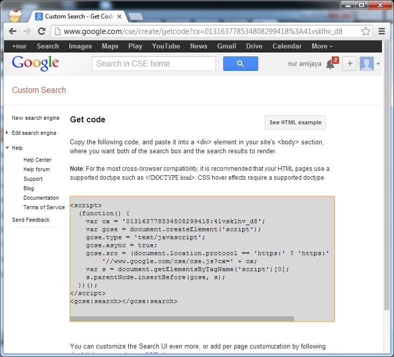 Custom Google Search: Membuat Google Custom Search Pada Web Atau Blog