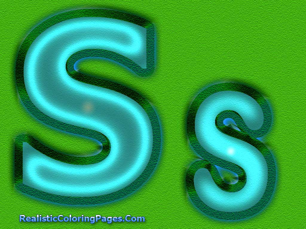 Realistic S Alphabet Coloring Pages