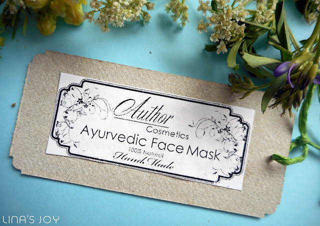 Ayurvedic face mask by Author cosmetics
