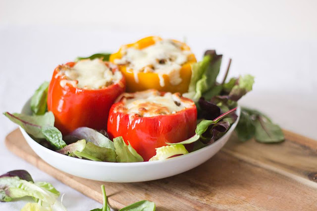spiced, stuffed, peppers, easy, recipe, blog, food, meal, planning