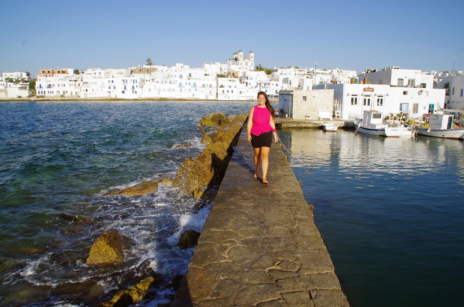 Girl in Naoussa Town Paros