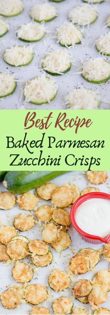 Baked Parmesan Zucchini Crisps #healthyfood #dietketo