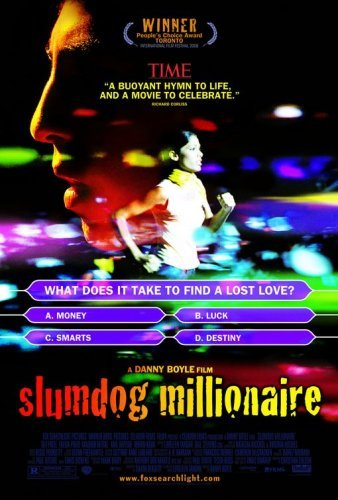 Poster Of Slumdog Millionaire 2008 720p Hindi BRRip Full Movie Download