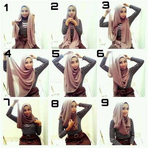 Tutorial hijab sekarang