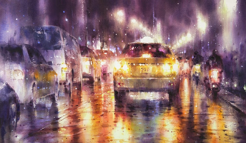 06-Lin Ching-Che 林經哲-Dreamlike-Watercolor-Paintings-in-the-City-www-designstack-co