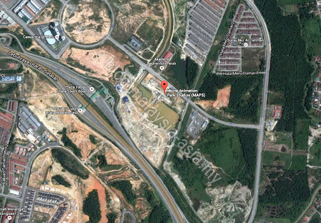 Map to Movie Animation Park Studios Ipoh