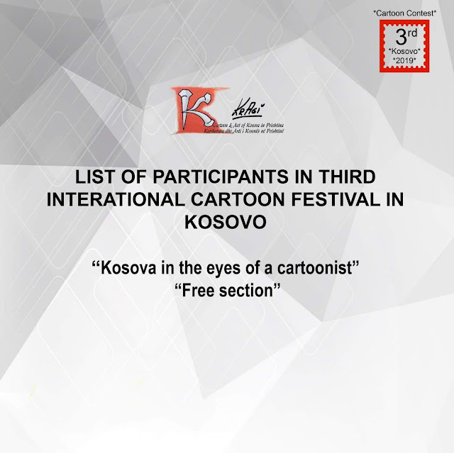 List of Participants in Third International Cartoon Festival in Kosovo
