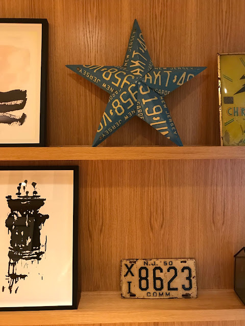 star made from car plates, Urby Jersey City, interior design