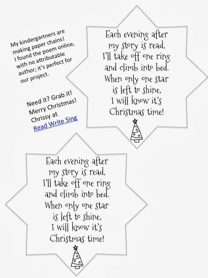 Read Write Sing: Paper Chain Poem